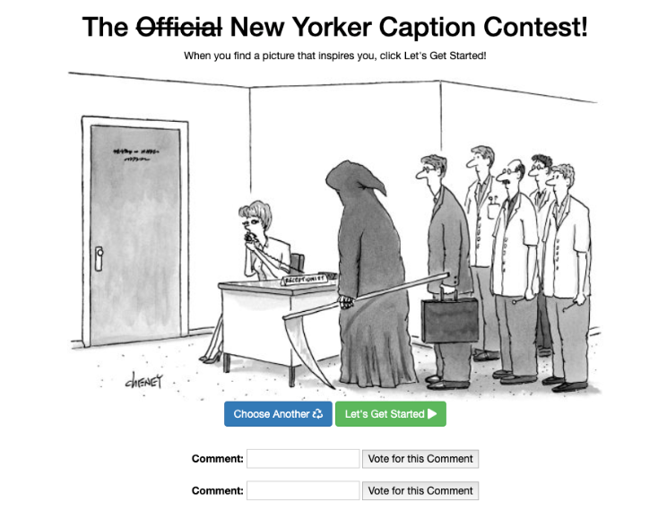 New Yorker Caption Contest project